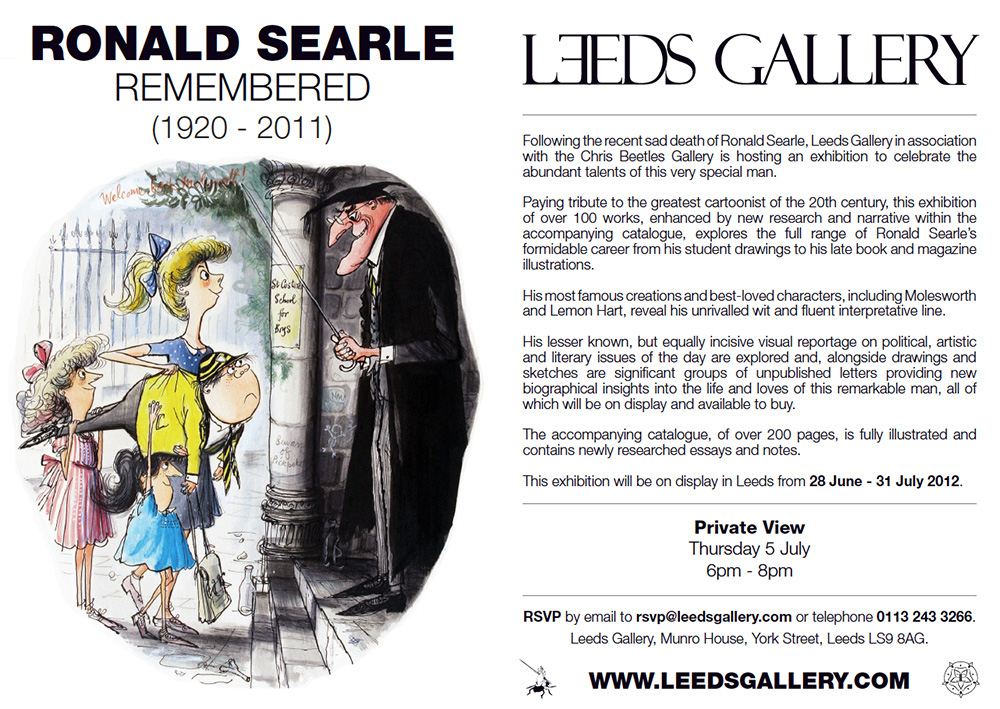 Ronald Searle Remembered, Flyer