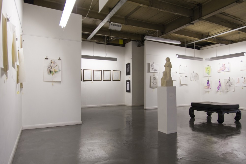 Leeds Life Drawing Exhibition, December 2012