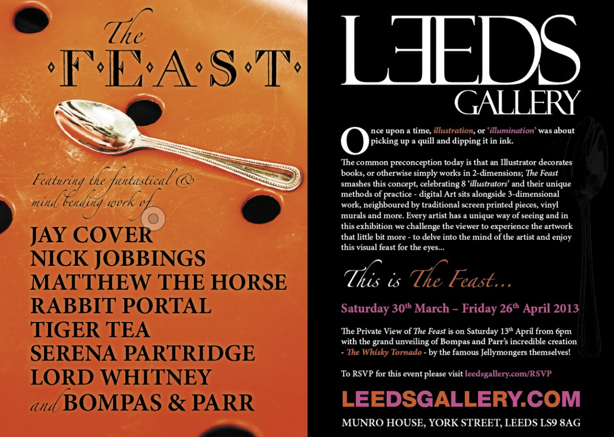 The Feast, Exhibition Flyer (2013)