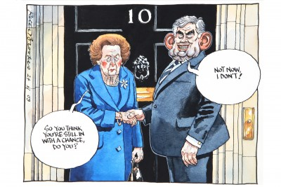 Margaret Thatcher, Cartoon by Peter Brookes