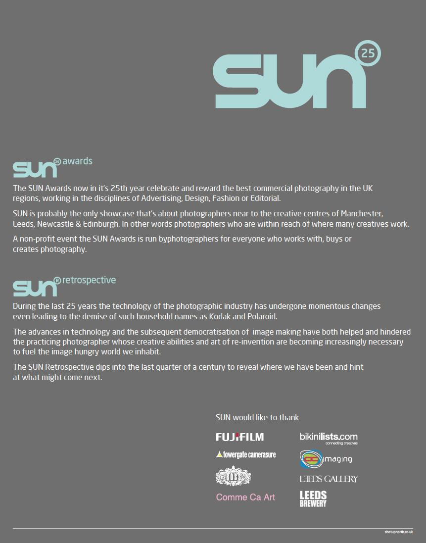 SUN Awards 25th Anniversary & Retrospective, 2013