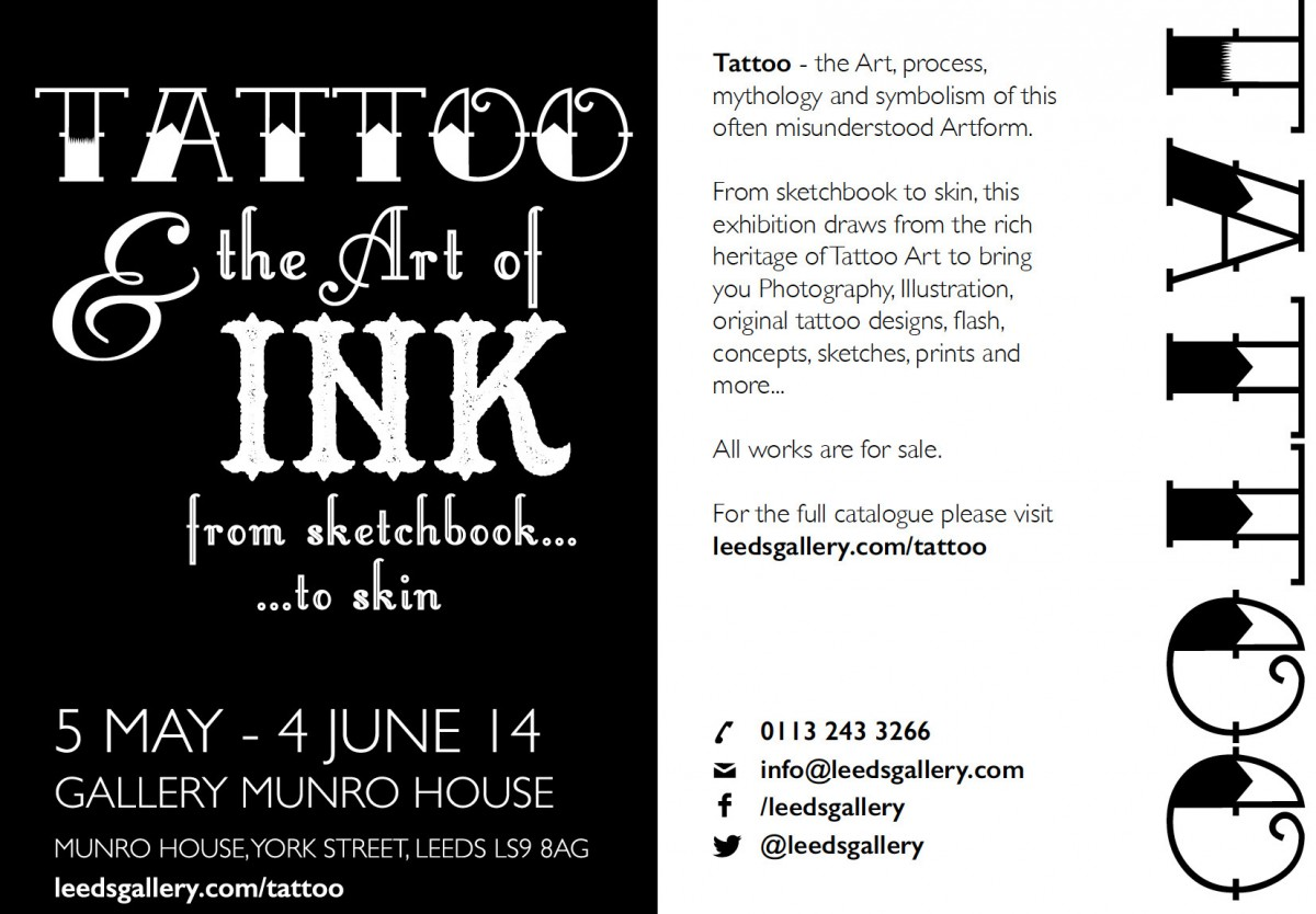 Tattoo & The Art of Ink, The Gallery at Munro House, Leeds