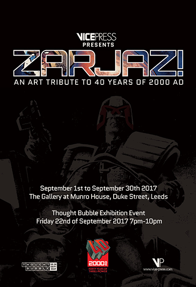 Zarjaz: An Art Tribute to 40 years of 2000 AD