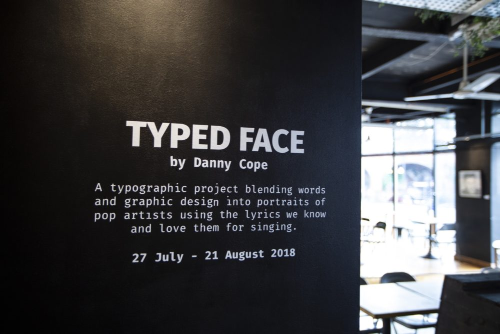 Typed Face Exhibition, July 2018