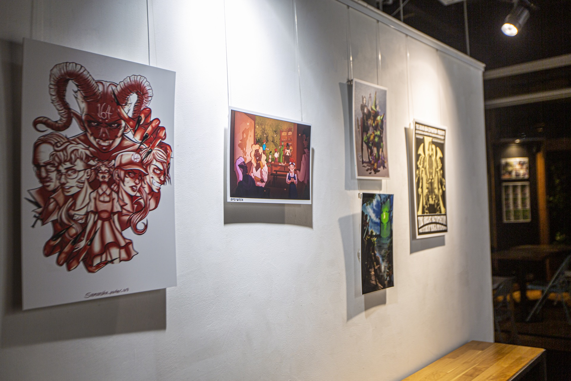 Comic Art Exhibition at The Gallery at 164, October 2019